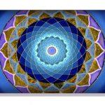 Almohadilla Cervical / Lumbar Mandala Azul