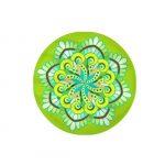 Zafusito para cuencos Mandala verde