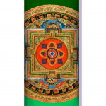 Amohadilla para ojos microfibra Mandala Verde