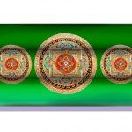 Almohadilla Rectangular Mandala Verde Yantra